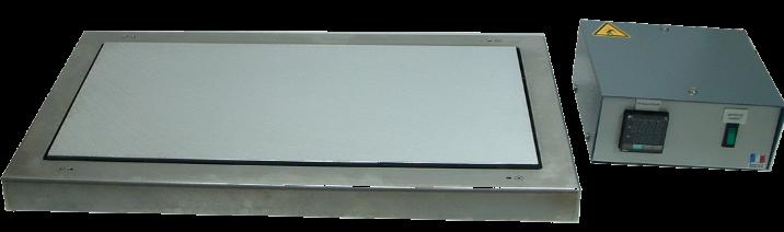 Platine chauffante 500x260mm - Plaque de chauffe